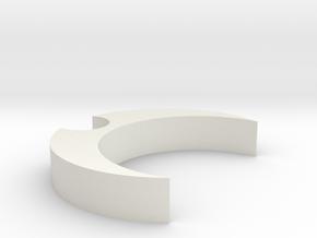 Mic Clip 35 10 in White Natural Versatile Plastic