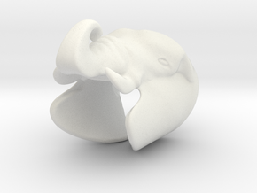 Elephant Gripper 23mm in White Natural Versatile Plastic