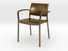 Stylex Brooks Arm Chair 1:24 Scale in Natural Bronze