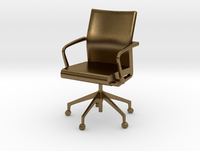 Stylex Sava Chair - Fixed Arms 1:24 Scale in Natural Bronze
