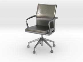 Stylex Sava Chair - Fixed Arms 1:24 Scale in Natural Silver