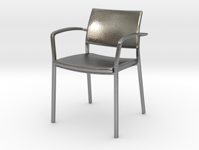 Stylex Brooks Arm Chair 1:24 Scale in Natural Silver