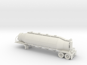 HO 1/87 Dry Bulk Trailer 03 with cyclone in White Strong & Flexible