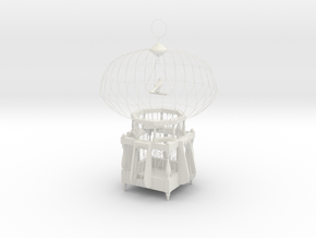 "Cage for birds from the ""COCOLA"" for shapeways in White Natural Versatile Plastic"