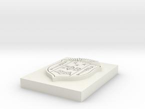 Zeta Phi Beta Crest in White Natural Versatile Plastic