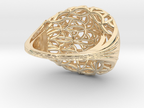 Leaf Ring size 7 (europ 55) in 14K Yellow Gold