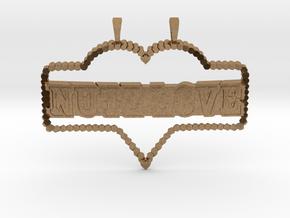 NuTz Love in Natural Brass