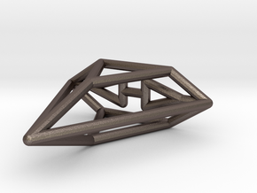 Viper Wireframe 1-600 in Polished Bronzed Silver Steel