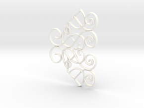 Margaery Tyrell Buckle Half with Bevel in White Processed Versatile Plastic