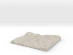 Model of Nantgwynant in Natural Sandstone