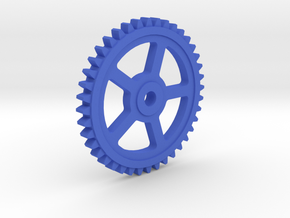 Involute Gear M1 T40 in Blue Processed Versatile Plastic
