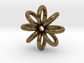 Ring Pendant 22mm in Natural Bronze