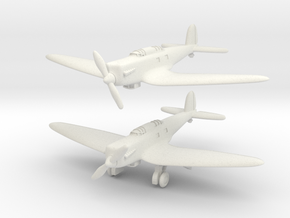 Heinkel He 70E Blitz set 1/285 6mm in White Natural Versatile Plastic