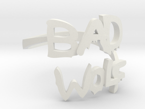 Bad Wolf ring - size XL in White Natural Versatile Plastic