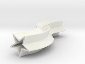 WAVY STAR-1 in White Natural Versatile Plastic