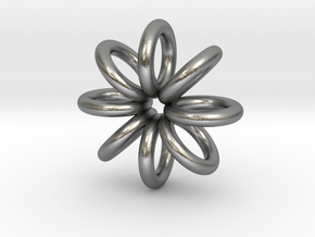 Ring Pendant 22mm in Raw Silver