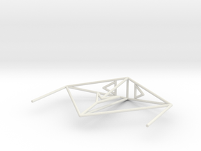 Krait Wireframe 1-300 in White Natural Versatile Plastic