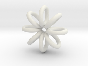 Ring Pendant 22mm in White Natural Versatile Plastic