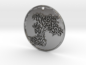 Deer Tree in Raw Silver