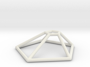 Thargon Wireframe 1-300 in White Natural Versatile Plastic