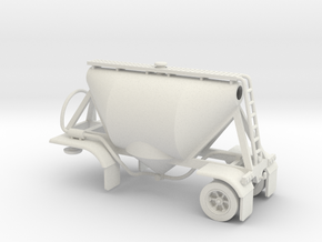 HO 1/87 Shorty Dry Bulk Trailer 07a (no dolly) in White Strong & Flexible