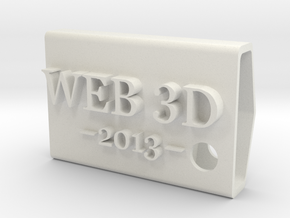 KeyFobWeb3d2013Spain in White Natural Versatile Plastic