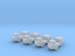 1/285 LARC-V Amphibious Truck (x4) in Smooth Fine Detail Plastic