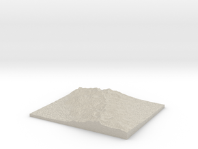 Model of Unknown Location in Natural Sandstone