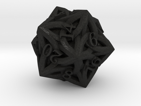 Celtic D20 - Solid Centre for Plastic in Black Acrylic