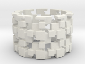 Tilt Cubes Ring Size 12 in White Strong & Flexible