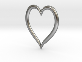 Heart Earring in Natural Silver