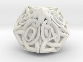 Celtic D10 - Solid Centre for Plastic in White Natural Versatile Plastic