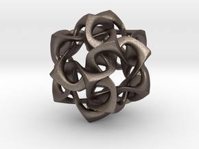 Icosahedron I, large in Polished Bronzed Silver Steel