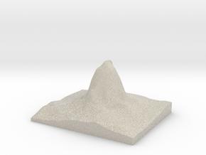 Model of Devils Tower in Natural Sandstone