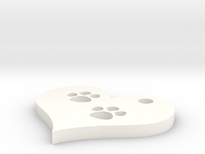 paw prints in White Strong & Flexible Polished