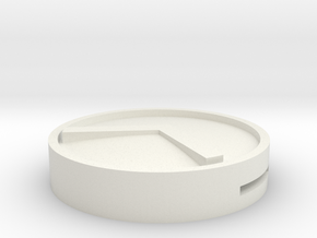 Spartan Shield Round in White Natural Versatile Plastic
