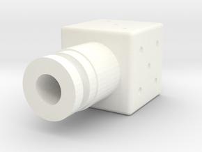 Dice Drip Tip V2 in White Processed Versatile Plastic