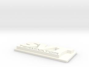 SVT Terminator Emblem V2 w/ base in White Processed Versatile Plastic
