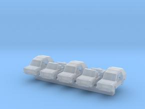 1/600 Trabant Kübel x5 in Smooth Fine Detail Plastic