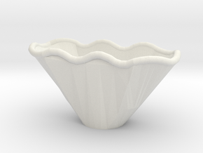 Wave Bowl Correct in White Natural Versatile Plastic