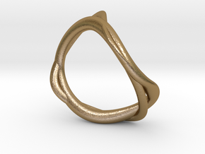 Smoke Ring 16.7mm in Polished Gold Steel