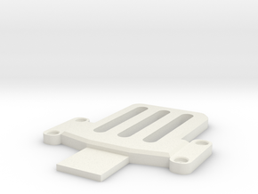 DSLR_cam/IMU_plate-v2 in White Natural Versatile Plastic