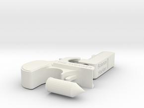 Deringer Pistol The Avenger 1:2 Scale with Bullet in White Natural Versatile Plastic