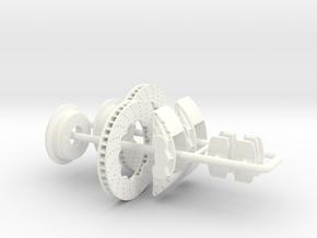1/8 Modern 11.6 Inch Diam 6 Piston Disk Brake in White Strong & Flexible Polished