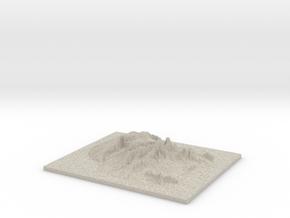 Model of Kaua?i in Natural Sandstone