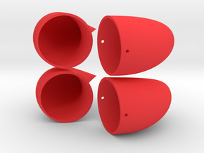 Small Horns - Double Set in Red Strong & Flexible Polished