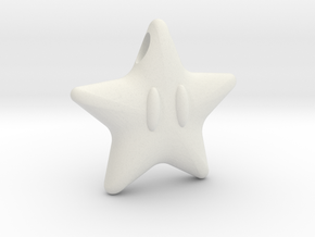 Power Star in White Natural Versatile Plastic