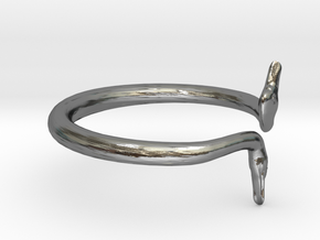 Cygnus Olor Swan Ring 6.5 in Polished Silver