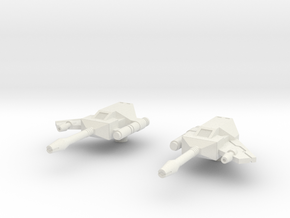Rumble Frenzy Guns 03 - Hollow Reinforced in White Natural Versatile Plastic