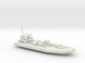Rigid Inflatable Boat (1:148) in White Natural Versatile Plastic: 1:76 - OO